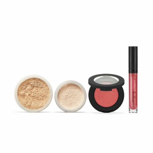 bareMinerals® Orig. Foundation 16g, Bounce & Blur Rouge, Mineral Veil & Moxie Plumping Lipgloss