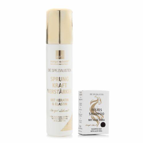 MARGOT SCHMITT® Spezialisten Sprungkraftver- stärker 200ml & festes Shampoo 65g