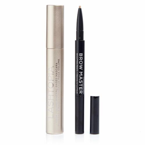 bareMinerals® Lashtopia Mascara 12ml & Augenbrauenstift 0,2g