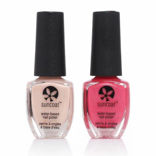 SUNCOAT Peel-Off Farblacke in Beige & Pink 2x 11ml