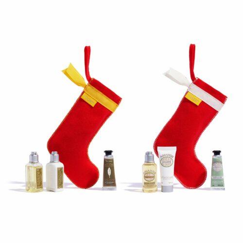 L'OCCITANE Weihnachtsstiefel Verbene & Mandel je 3 Mini Größen 6tlg.