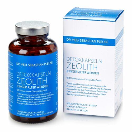 Dr. med. Sebastian Pleuse Detoxkapseln Medizinprodukt mit Zeolith, 144 Stück