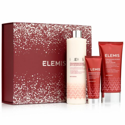 ELEMIS Frangipani Monoi-Set Bath & Shower Milk, Oil-Rich Body Cream & Hand-/Nail-Balm 3tlg.