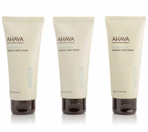 AHAVA Körperpflege-Set Handcreme, Bodylotion & Fußcreme, je 100ml