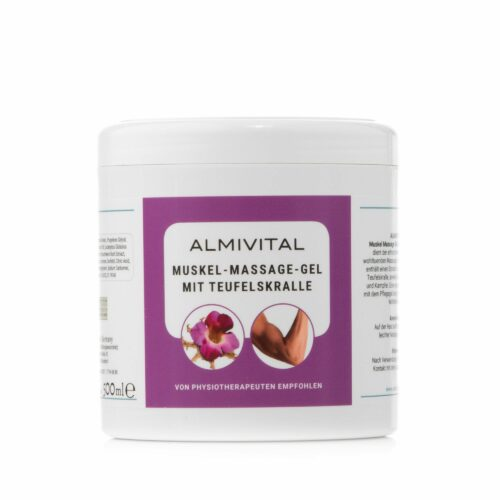 ALMIVITAL Muskel-Massage-Gel mit Teufelskralle & Kampher 500ml