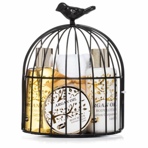 GLOSS! Arganöl-Set im metallischen Käfig 4tlg.