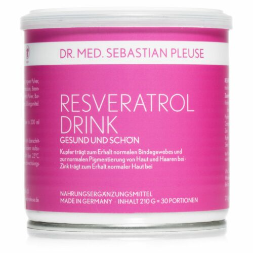 Dr. med. Sebastian Pleuse Resveratrol Drink mit Q10 & Hyaluron 210g für 30 Tage