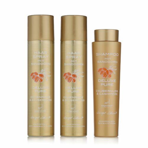 MARGOT SCHMITT® Deluxe Pure Sanddorn Shampoo 350ml Sanddorn Haarspray 2x 300ml