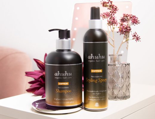 ahuhu organic hair care COFFEIN Thickening Shampoo & Styling Spray