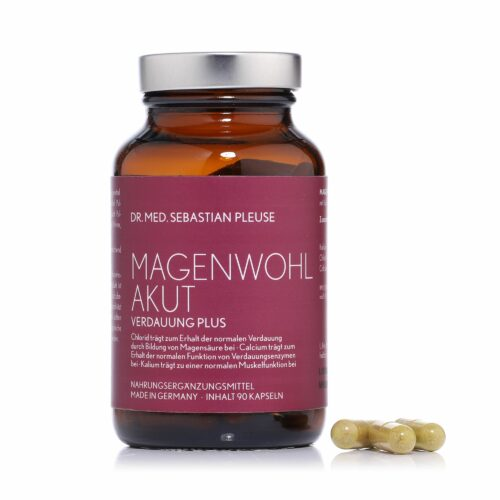DR. MED. SEBASTIAN PLEUSE Magenwohl Akut Fenchel & Calcium, 2x90 Kapseln, 60 Tage