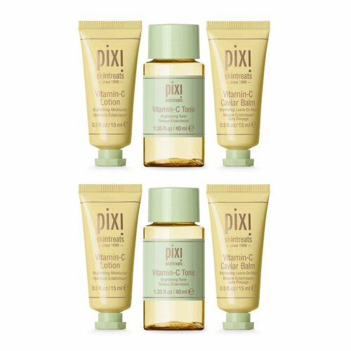 PIXI BEAUTY Best of Vitamin C Tonic 2x 40ml, Haut Lotion 2x 15ml & Caviar Balm 2x 15ml