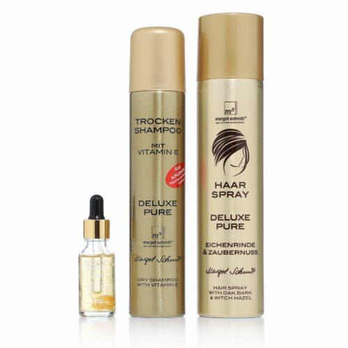MARGOT SCHMITT® Trockenshampoo 200ml, Bernstein Kopfhaut Serum 20ml & Haarspray 300ml