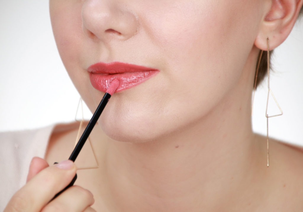 MAKEUP STUDIO Lip Glaze Blissful Pink Swatch