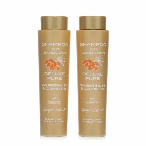 MARGOT SCHMITT® Deluxe Pure Shampoo Sondergröße mit Sanddorn 2x 350ml