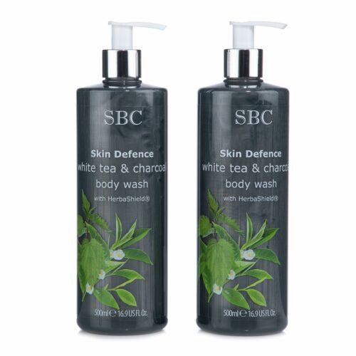 SBC Weisser Tee & Aktivkohle Duschgel 2x 500ml