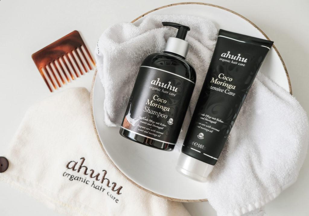 ahuhu organic hair care Coco Moringa Haarpflege 1