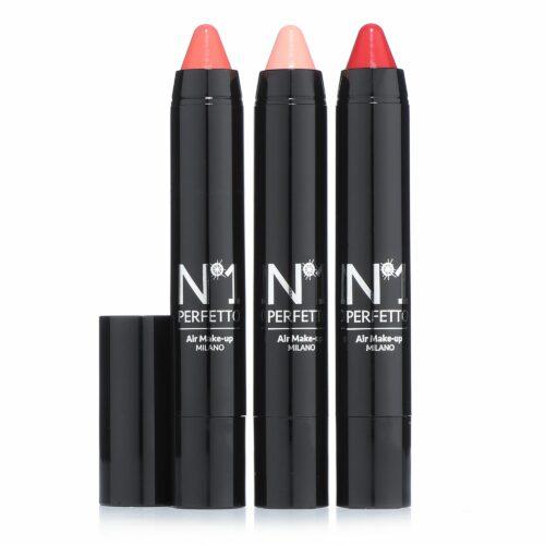PERFETTO NO 1 Lippen-Set Lippenstifte mit Kollagen 3x 4,5g