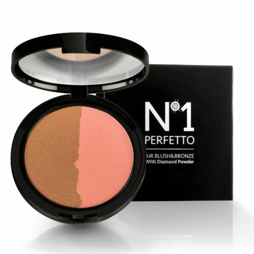PERFETTO NO 1 Air Rouge & Bronzer mit Diamanten Pulver & Spiegel 8g