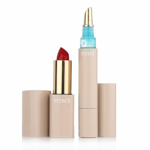 MINT Lipblueshine 4ml & Lippenstift 3,2g mit Blaupigment für aufgehellte Zähne