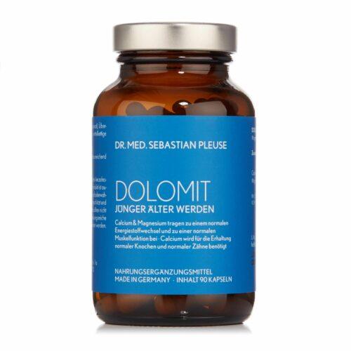 Dr. med. Sebastian Pleuse Dolomit mit Calcium und Magnesium 90 Kapseln, 30 Tage
