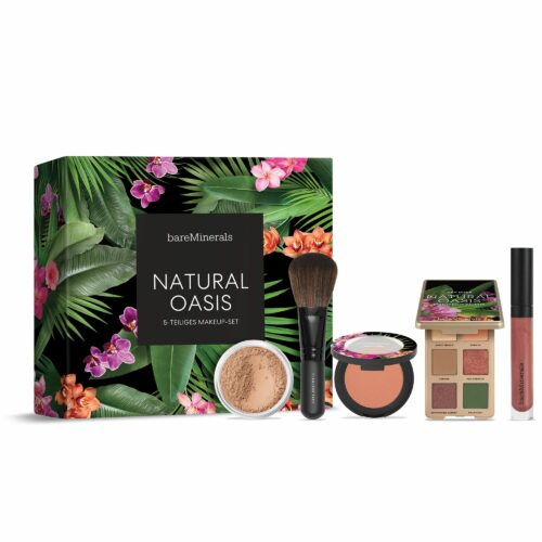 bareMinerals® Natural Oasis Set Orig. Foundation 8g Lidschatten, Blush Lipgloss & Pinsel