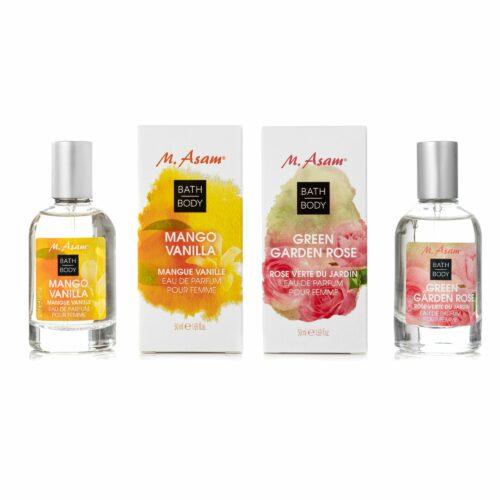 M.ASAM® Eau de Parfum Duo Green Garden Rose Mango Vanilla jeweils 50ml