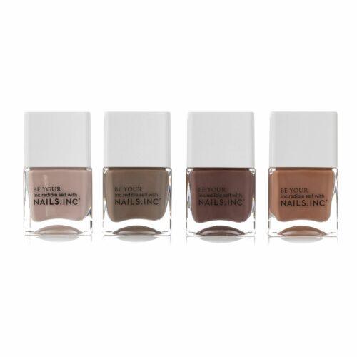 NAILS INC Nagellack-Set Keep It Tonal mit 4 verschiedenen Farben, 4x14ml