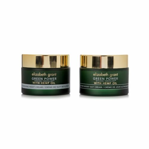 ELIZABETH GRANT Green Power & Hemp Oil Tages- & Nachtcreme 2x 50ml