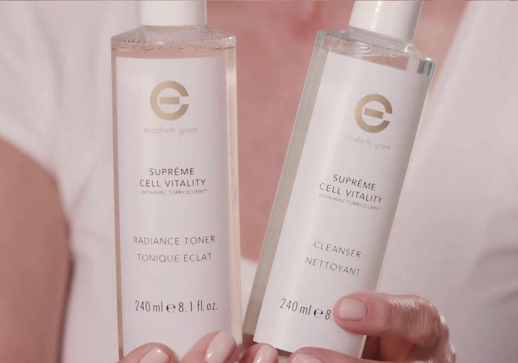 ELIZABETH GRANT SUPRÊME CELL VITALITY Radiance Toner & Cleanser