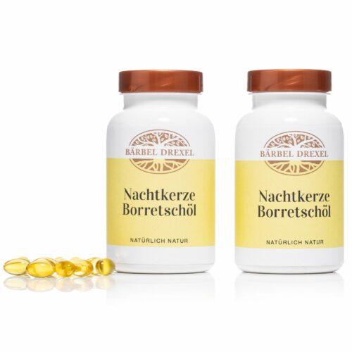 BÄRBEL DREXEL Nachtkerzen- Borretschöl Kapseln für schöne Haut 2x 180 Stück