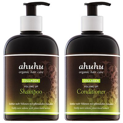 ahuhu organic hair care Volumenshampoo Volumenconditioner je 500ml