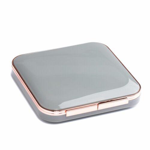 SIMPLY BEAUTY Kompaktspiegel 2 Spiegel, normal & 6-fach Vergrößerung, LED-Licht & Pinzette