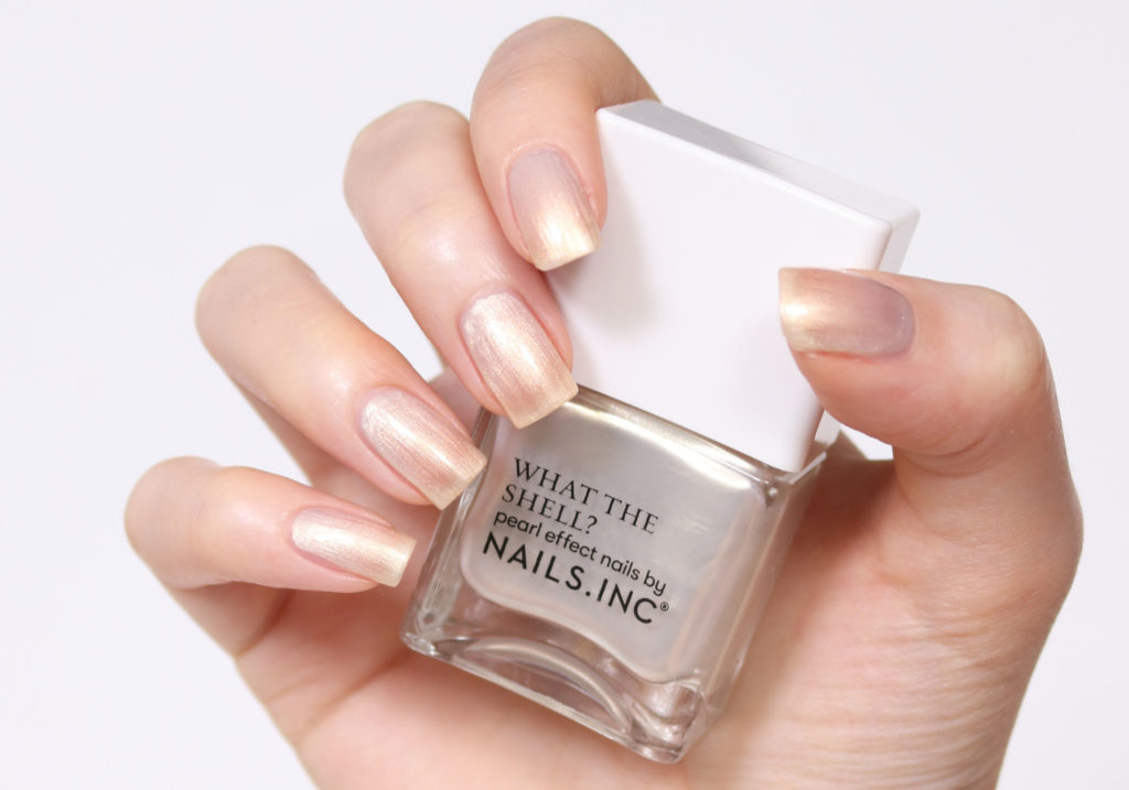 NAILS INC Nail Polish Worlds Your Oyster Babe Swatch