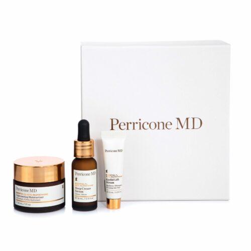 DR. PERRICONE Essential Fx Reisegrößen-Set Pflege für Gesicht & Augen, 3tlg.