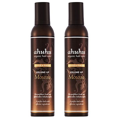 ahuhu organic hair care Volume up Mousse Volumenschaum 2x 300ml