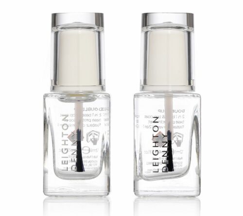 LEIGHTON DENNY Double up 2in1-Base & Topcoat 2x 12ml