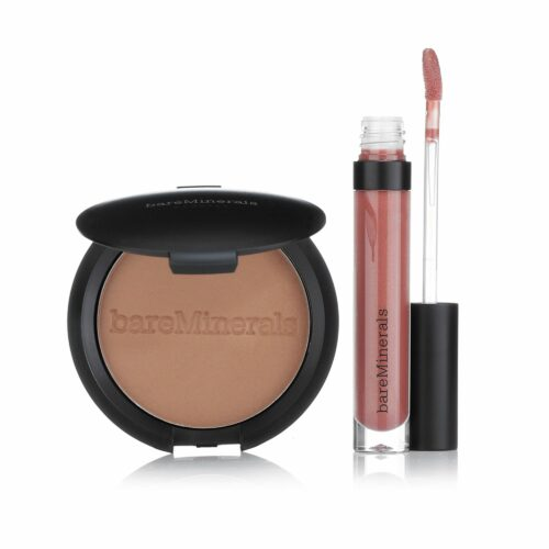 bareMinerals® Make-up-Set Bronzer in Warmth Lidschattenpuder Moxie Lipgloss, 3tlg.