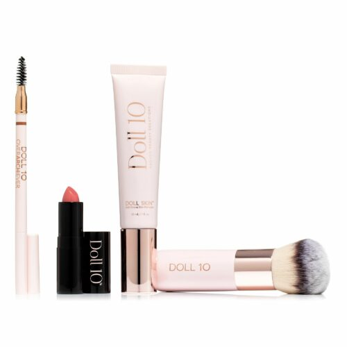 DOLL 10 BEAUTY Make-Up Set Foundation & Pinsel Hydragel Lipstick & Augenbrauenstift