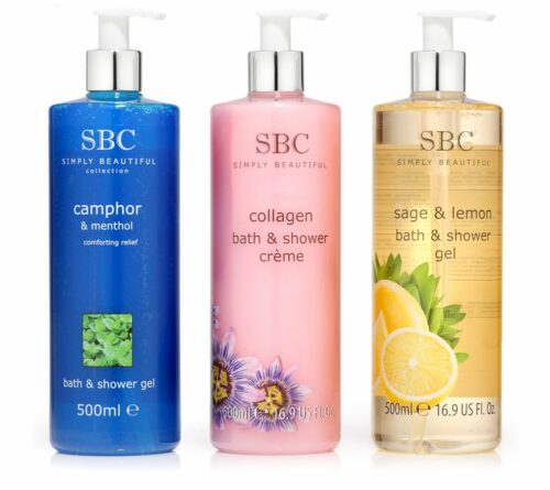 SBC Dusch- & Bade-Set Kampher & Menthol Salbei & Zitrone Collagen je 500ml