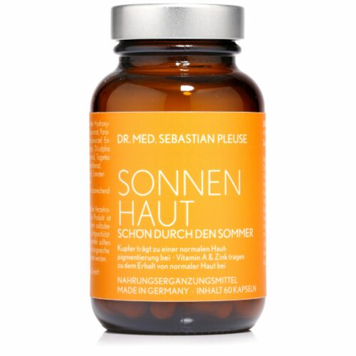 Dr. med. Sebastian Pleuse Sonnenhaut 60 Kapseln für 30 Tage u.a. mit Vitamin A & Kupfer