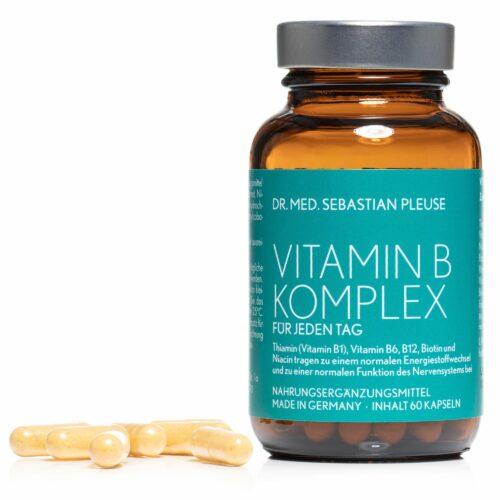 Dr. med. Sebastian Pleuse Vitamin B-Komplex 60 Kapseln für 60 Tage