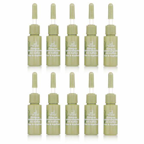 MARGOT SCHMITT® Sensitiv Süßgras Ampullen mit Koffein & Follicusan 10x 8ml