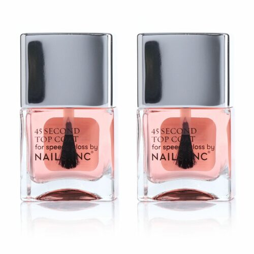 NAILS INC Nagellack-Duo Retinol 45 Sekunden Topcoat 2x 14ml
