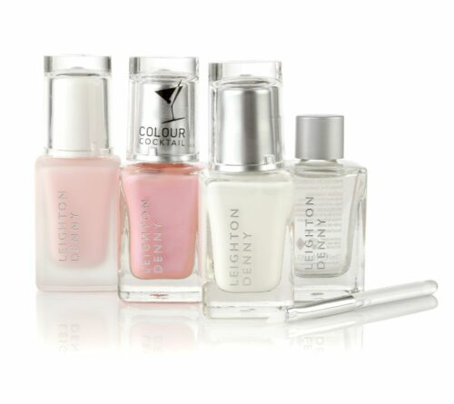 LEIGHTON DENNY Spa at home French Manicure Maniküre-Set für Zuhause, 4tlg.