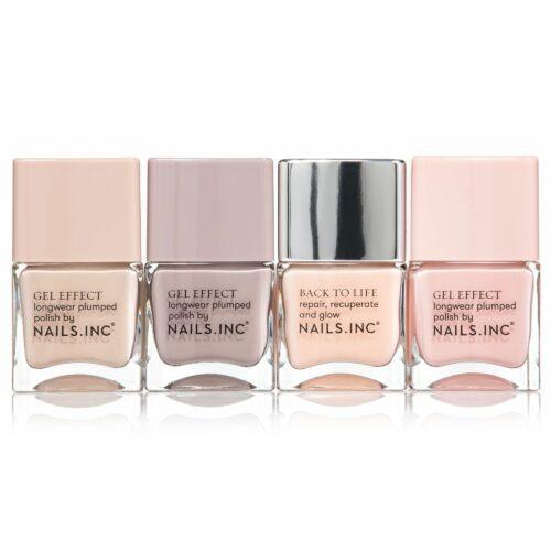 NAILS.INC® Nagellack-Set mit 4 natürlichen Pastell Farbtönen 4x 14ml