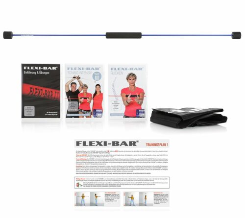 FLEXI-SPORTS Flexi-Bar 3 DVDs inkl. Tasche & Trainingsplan