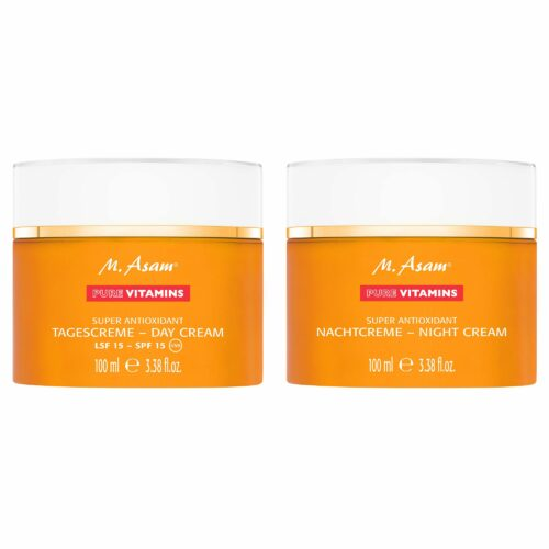 M.ASAM® Pure Vitamins Tagescreme LSF 15 & Nachtcreme 2x 100ml