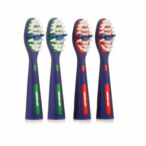 PLAYBRUSH Bürstenköpfe für die elektrische Kinder-Zahnbürste 4 Stück