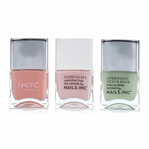 NAILS.INC® Nagel-Set Detox Maske 14ml, Basecoat 14ml & Farblack 14ml