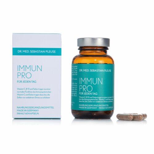 Dr. med. Sebastian Pleuse Immun Pro mit Selen, Vitamin C & B12 60 Kapseln, 30 Tage